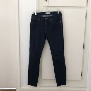 Madewell Skinny Ankle Jeans with Distressed Hem